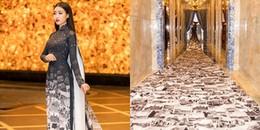 Hoa hậu Đỗ Mỹ Linh gây sốckhi diệnbộ áo dài 10m 'càn quét' thảm đỏ