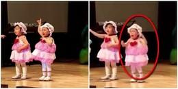 Cư dân mạng vừa thương, vừa buồn cười với bé gái khóc như 'mưa' khi đang biểu diễn trên sân khấu