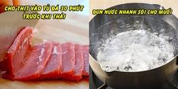 12 mẹo vặt nấu nướng tiết kiệm thời gian vô cùng hiệu quả