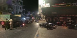 Kinh hoàng: Mất lái ngay trên đường phố Sài Gòn, xe ben khiến nhiều người bị cuốn bay vào gầm