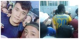 Fan cuồng 'tổng tiến công' phòng thay đồ FLC Thanh Hoá, đòi gặp Bùi Tiến Dũng
