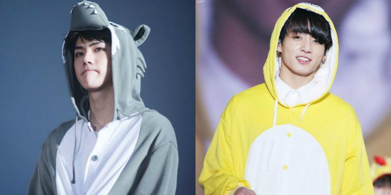 yan.vn - tin sao, ngôi sao - Cùng là em út của hai nhóm nhạc đình đám nhất Kpop, Sehun và Jungkook lại khác xa một trời một vực