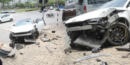 Sài Gòn: Siêu xe hơn 3 tỷ bị tai nạn nát hết phần đầu, tài xế thoát chết thần kì