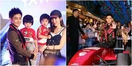 Vợ đưa cặp song sinh đến sự kiện ủng hộ Lâm Chí Dĩnh