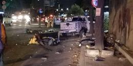 Cận cảnh vụ 'xe điên' tông hàng loạt xe máy trong đêm tại SG làm 2 người chết nhiều người bị thương