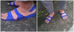 Sáng tạo bậc thầy: Khi bạn muốn mang dép tổ ong mà thầy giáo bắt phải đi giày có quai hậu