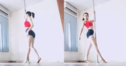 Tung clip múa cột gợi cảm, Chi Pu khéo léo khoe dáng thon chuẩn đẹp