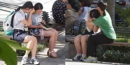 Nữ sinh bị áp lực thi cử bật khóc xin một cái ôm, phản ứng của người lạ gây 'sốt' MXH