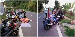 Nhóm phượt thủ 9 người đi Đà Lạt gây tranh cãi vì trải thảm, đắp chăn nằm ngủ trên đường