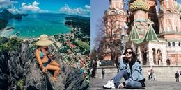 Dù có độc thân, du lịch một mình thì các nàng vẫn chụp được ảnh đẹp lung linh cho người ta ghen tị