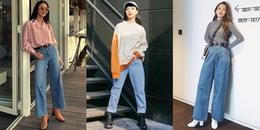 """Mix đồ với """"jeans của bố"""" – xu hướng thời trang đang 'làm mưa làm gió' trên thế giới hiện nay"""