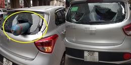 Chuyện lạ: Bình gas'bay' từ đường hầm cắm thẳng vào xe khiến nhiều người dân Hà Nội hoảng hốt