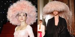 Chiếc mũ lông 'phá đảo' thảm đỏ của Angela Phương Trinh sao giống thương hiệu nước ngoài thế?