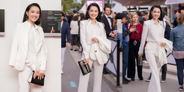 Ơn giời! Nhã Phương diện vest trắng tinh khôi, đẹp 'đốn tim' ở LHP Cannes 2018