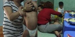 Phẫn nộ cảnh trẻ nhỏ bị lột trần nằm ngửa dưới sàn, bảo mẫu tát rồi trút thức ăn vào miệng ở Đà Nẵng
