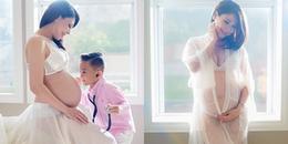 yan.vn - tin sao, ngôi sao - Thanh Thảo diện nội y táo bạo, tự tin khoe bụng bầu con gái ở tháng thứ 8
