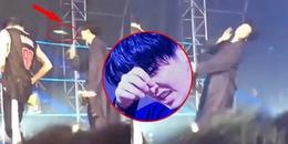 Younjae (GOT7) choáng váng suýt ngã trên sân khấu vì bị fan ném vật lạ trúng mặt