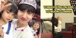 Chẳng ai 'nhọ' như nam thần Changmin, cùng đi giữ trẻ với Yunho nhưng lại bị bắt nạt thế này đây