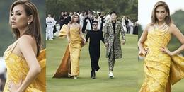 Sải bước trên sân golf, Võ Hoàng Yến vẫn catwalk cực 'đỉnh' trong show Đỗ Mạnh Cường