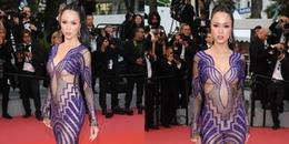 Vũ Ngọc Anh diện váy xuyên thấu táo bạo trên thảm đỏ LHP Cannes 2018