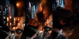 Clip: Ám ảnh kinh hoàng cảnh tòa nhà 26 tầng cháy ngùn ngụt rồi sụp đổ chỉ trong chớp mắt