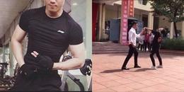 Cận cảnh vẻ điển trai, thân hình 6 múi như người mẫu của thầy giáo cover nhạc Kpop gây sốt MXH