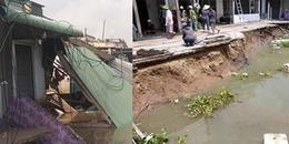 Hình ảnh kinh hoàng của 5 căn nhà bị 'nuốt chửng' trong vụ sạt lở đất nghiêm trọng tại Cần Thơ