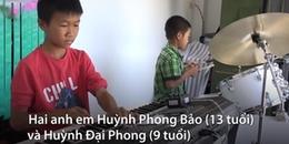 Chuyện hai anh em nghèo tự mày mò học nhạc, kiếm tiền phụ giúp gia đình khiến nhiều người thán phục