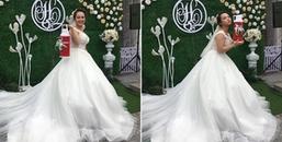 """Đi đám cưới mà như dự Gala cười với ấm phích nước đựng... """"chục củ"""" dành tặng cô dâu chú rể"""