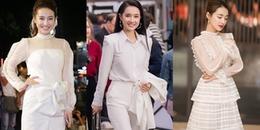 Những bộ trang phục màu trắng tinh khôi đẹp đến nao lòng của Nhã Phương