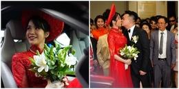 yan.vn - tin sao, ngôi sao - Diệp Lâm Anh diện áo dài đỏ rực, hôn chồng đại gia đắm đuối trong lễ đón dâu