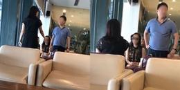 Bắt quả tang chồng dắt bồ nhí đi công tác, vợ và em gái làm náo loạn phòng chờ VIP