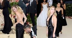 Miley Cyrus khiến người xem đỏ mắt khi nổi loạn diện váy đen hở ngực, khoe mông táo bạo tại Met Gala