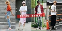 Muôn kiểu street style với áo phông mùa hè của giới trẻ Hàn Quốc