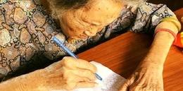 Bà cụ 97 tuổi nằng nặc đòi vẽ 1000 trái tim để thể hiện tình yêu với người chồng đã mất
