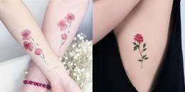 Gợi ý những vị trí xăm hình hoa nhỏ xinh không phản cảm mà đẹp đến nao lòng cho các nàng