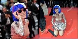 yan.vn - tin sao, ngôi sao - Nữ ca sĩ vô danh bất chấp chiêu trò để gây shock trên thảm đỏ LHP Cannes 2018