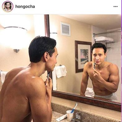 Cả thế giới ra mà xem, Hồ Ngọc Hà khoe cả ảnh Kim Lý trong phòng tắm luôn này