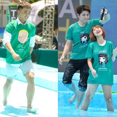 Khởi My - Kelvin Khánh lần đầu tiên nhảy dây trên mặt nước tại sự kiện Trà Ô Long Tea+Plus
