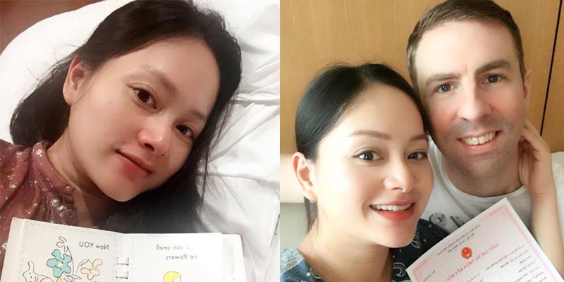 yan.vn - tin sao, ngôi sao - Lan Phương hạ sinh con gái đầu lòng cho chồng Tây cao 2m
