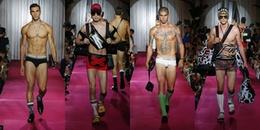 Dàn mẫu nam diện nội y khoe thân hình đẹp mướt mắt trong show Dolce & Gabbana