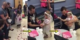 Bé gái 4 tuổi được nam y tá 30 tuổi cầu hôn, CĐM xúc động bật khóc khi biết lý do xúc động đằng sau
