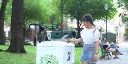 Lần đầu tiên tại TP.HCM có thùng rác 'biết nói': Chỉ cần bỏ rác vào, bạn sẽ nhận được lời 'cảm ơn'