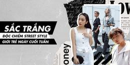 Chán họa tiết sặc sỡ, giới trẻ Sài Thành độc chiếm street style cuối tuần cùng sắc trắng tinh khiết