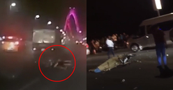 Vít ga 'núp gió' trên xe máy, nam thanh niên đâm sầm vào xe tải và tử vong tại chỗ