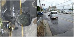 Nhật Bản lại khiến cả thế giới thán phục: Đường bị sụt lún hôm trước, hôm sau đã khôi phục