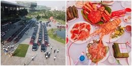 Đám cưới 'siêu khủng' của đại gia Hà Nội: 200 xe hơi và đãi khách bằng cua huỳnh đế