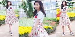 Hình ảnh đầu tiên của Hoa hậu Hoàn vũ nhí Ngọc Lan Vy sau khi về nước
