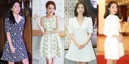 Tạm quên chuyện đóng chung vai, phong cách thời trang của Song Hye Kyo - Nhã Phương thế nào?