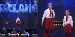 Cậu bé gốc Việt đeo khăn quảng đỏ, mặc đồng phúc gây sốt tại Sweden's Got Talent